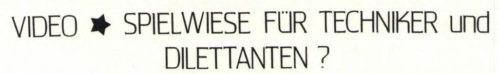 Video AAC Magazin 8-1983