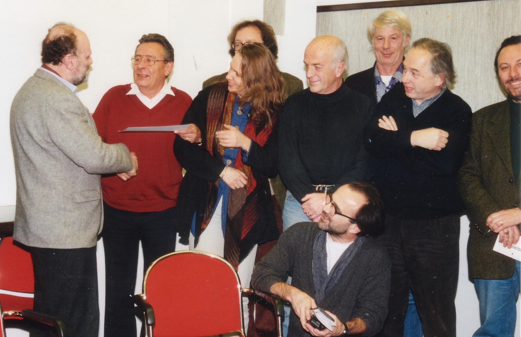 Die Überreichung der AAC Ehrenmitgliedschaft an Heinz Brossmann
