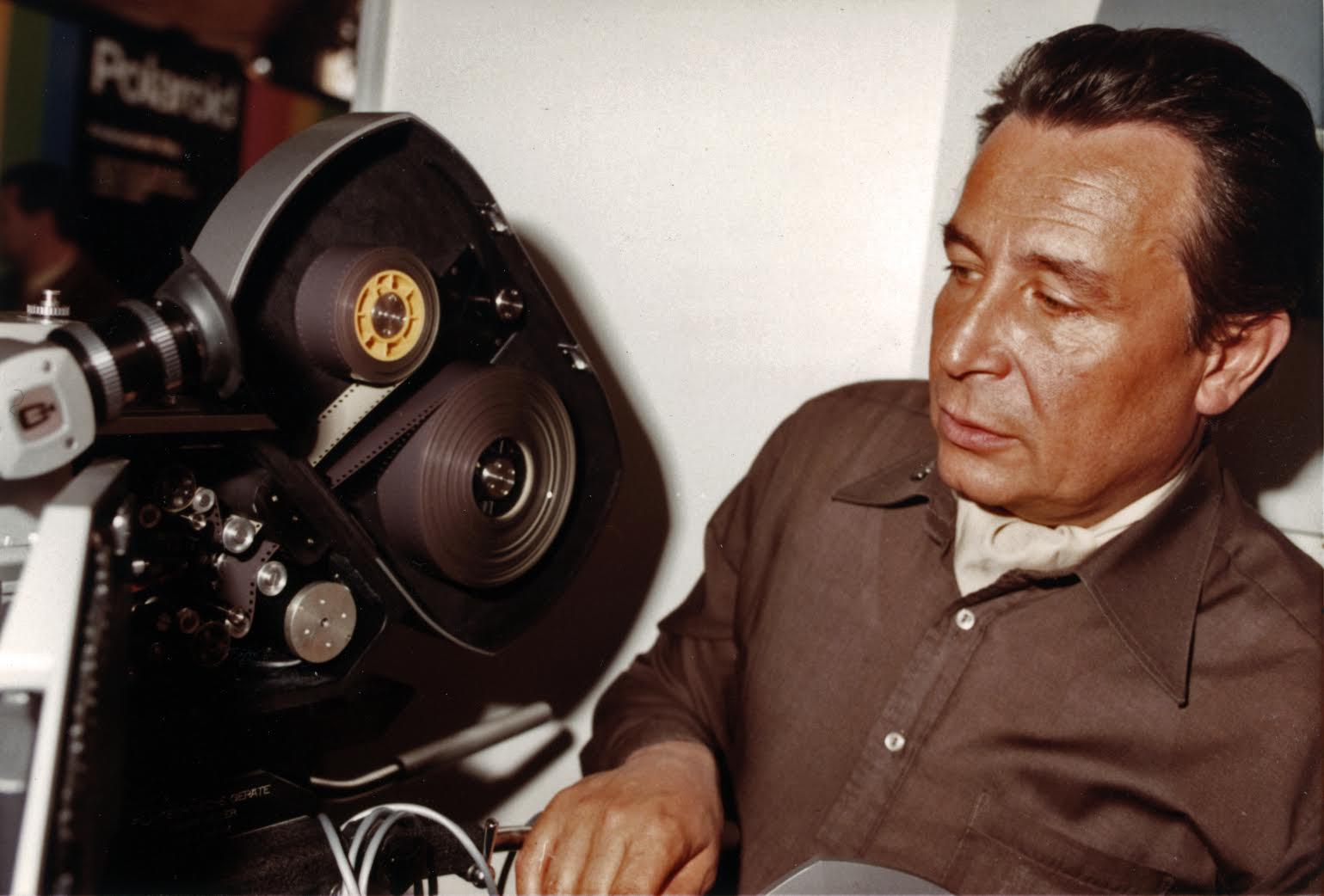 Heinz Brossmann an der Kamera